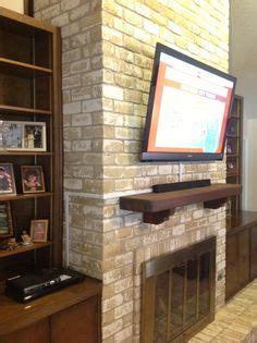 tv mount for brick fireplace 1000 images about vesta fireplace tv installation on