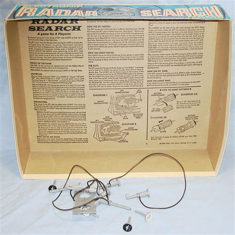 Radar Search Ideal Electronic Radar Search Ships Helicopters Battery Operated 2114 7