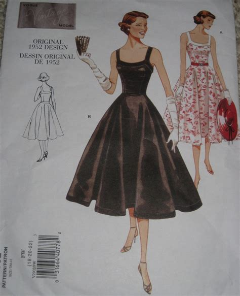 vintage pattern reprint vogue 2902 sewing pattern reprint vintage styled 1950s