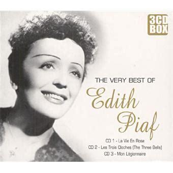 best edith piaf album the best of edith piaf cd album achat prix fnac