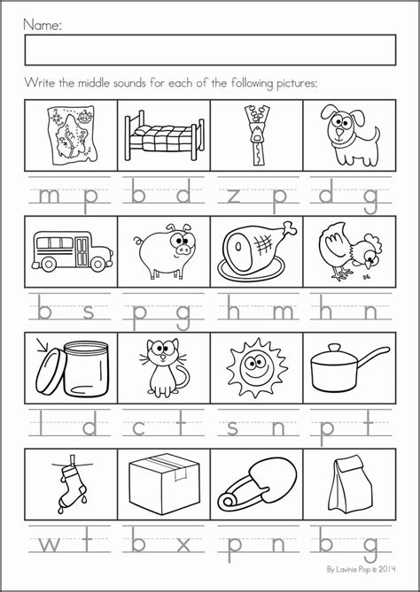 Vowel Sounds Worksheets For Kindergarten by 87 Best Images About Worksheets Cvc On Cut And