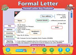 Formal Letter Ks2 Template Formal Informal Letters Content Classconnect
