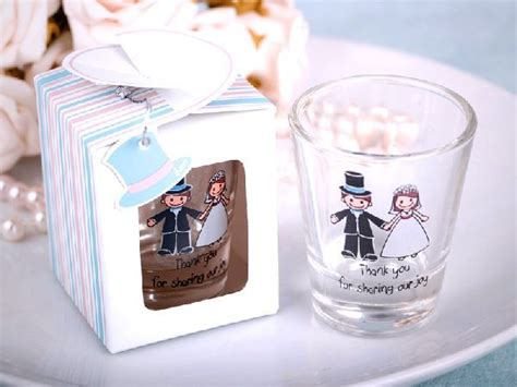 Personalized Wedding Giveaways - presenting your guests with personalized shot glasses for wedding favors