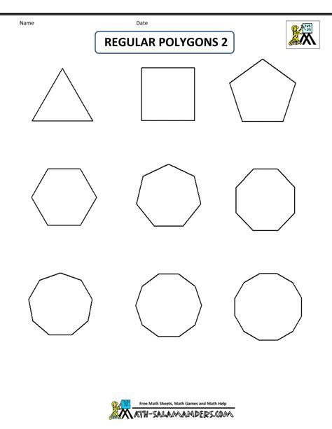 2d shape templates regular shapes