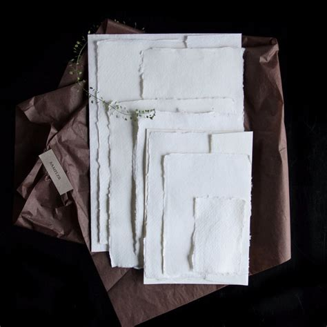 Handmade Silk Paper - where to find handmade deckle edge paper