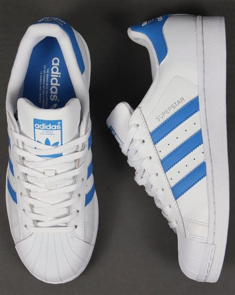 Adidas For adidas trainers adidas superstar trainers white royal blue