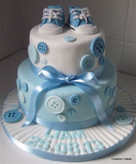 Sepatu Heels Baby Beldu Moon Sweet two tier boys christening cake with handmade button trail and converse shoes http www
