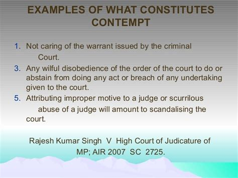 contempt of court contempt of court not bench law of contempt and media