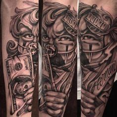 joker tattoo patong forearm part of the prohibition times gangster style