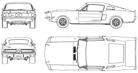 car blueprints ford mustang shelby gt500 blueprints