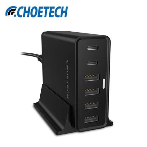 l with charging station usb type c charger for nexus 5x 6p choetech 55watt multi