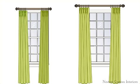 best way to hang curtains from ceiling the best way to hang draperies or curtains newton custom