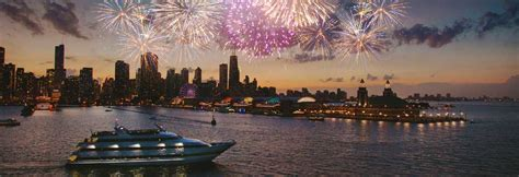 night boat cruise in chicago navy pier fireworks dinner cruises odyssey cruises