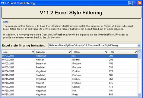 excel format of form 10e excel style filtering grid windows forms