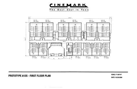 movie theatre floor plan prototype a12s first floor plan