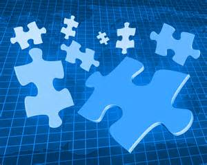 free flying puzzle pieces backgrounds for powerpoint