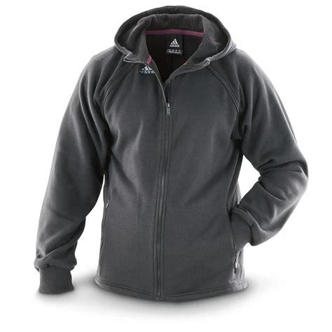 adidas 174 fleece zip hooded sweater jacket 579463 sweaters at sportsman s guide
