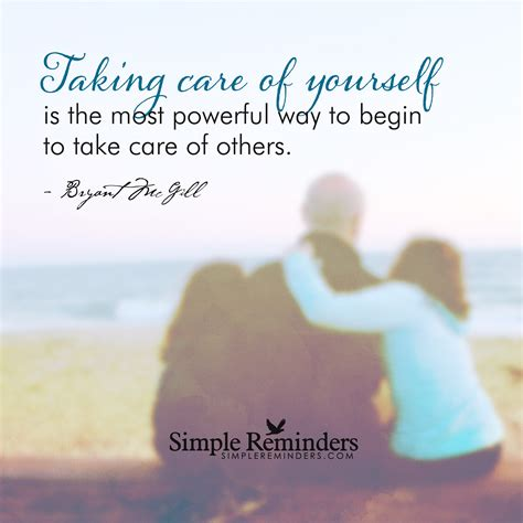 taking care of take care of yourself for others by bryant mcgill