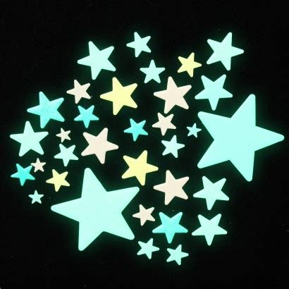 glowing stars for bedroom colourful glow in the dark stars