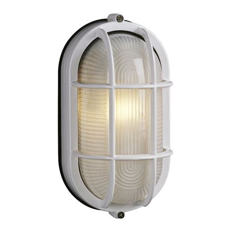 Shop Galaxy Marine 8 375 In H White Outdoor Wall Light At