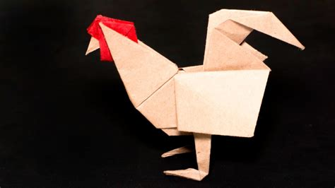 Origami Hen - origami easter origami rooster hen tutorial how to make