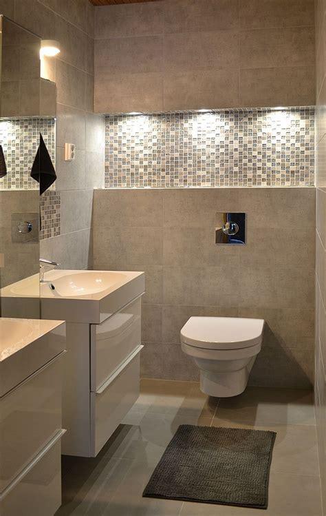 graues und schwarzes badezimmer bathroom with soft tones interiors by decom bad wc
