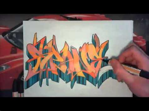 wildstyle graffiti speed drawing sur papier echange avec