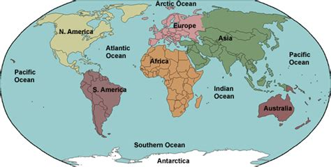 continents oceans mr ott s classroom wiki