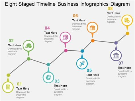 timeline diagram template cb eight staged timeline business infographics diagram