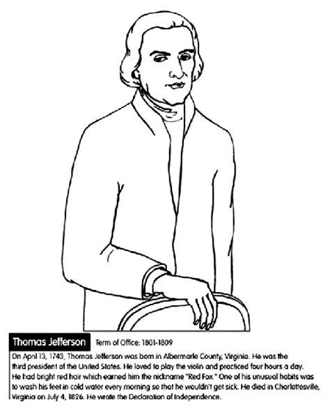 u s president thomas jefferson coloring page crayola com