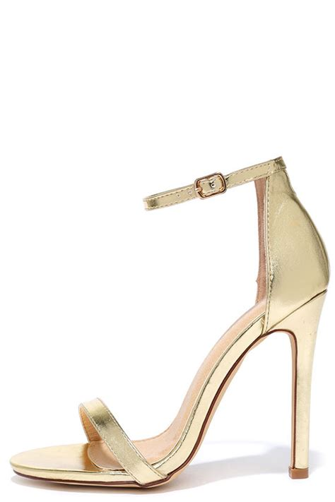 metallic gold high heels metallic gold sandals heels tsaa heel