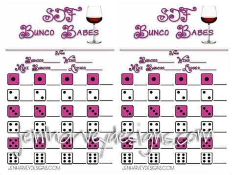 free bunco scorecard template bunco score sheets template 10 documents in