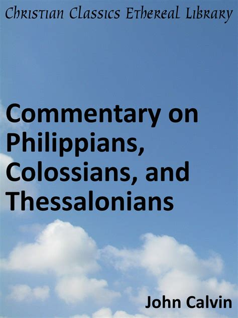 philippians a linguistic commentary books commentary on philippians colossians and thessalonians
