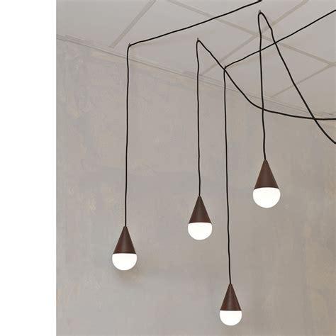 designer illuminazione lada a sospensione design a 4 drop colore corten