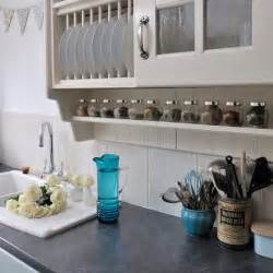 Pale kitchen with spice storage cute vintage cottage housetohome