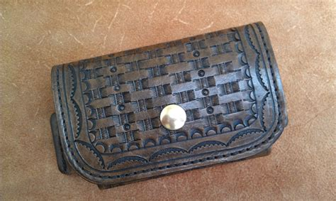 Handmade Leather Cell Phone Cases - cell phone sideways carry fits iphone droid
