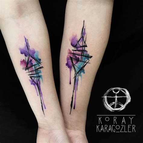 watercolor tattoos for couples best 25 geometric watercolor ideas on
