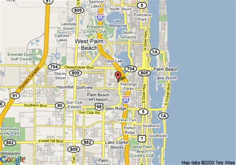 west palm florida map map of hton inn west palm central airport fl