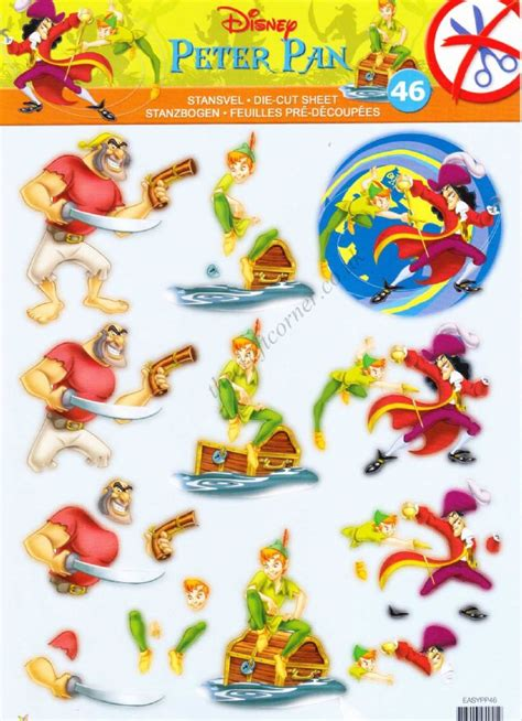 Disney Decoupage - disney pan die cut 3d decoupage sheet