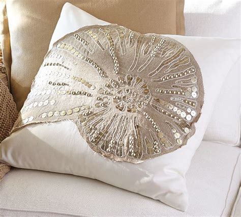 Beachy Decorative Pillows by Sequin Coastal Embroidered Pillow Cover Style