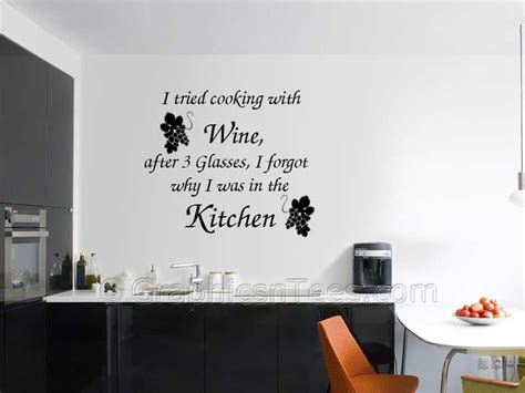 Wall Mural Decals Tree i tried cooking with wine kitchen dining room wall art