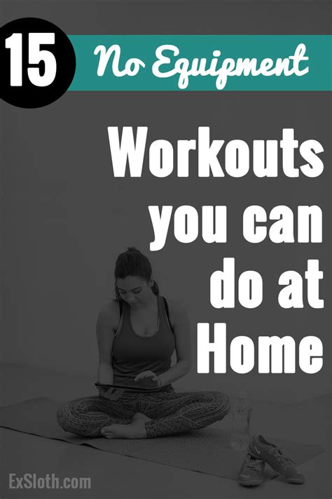 15 no equipment at home workouts diary of an exsloth