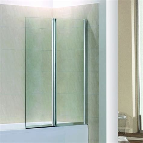 bathtub glass screen 1200x1400mm hinge chrome 180 176 2fold bath shower screen ebay