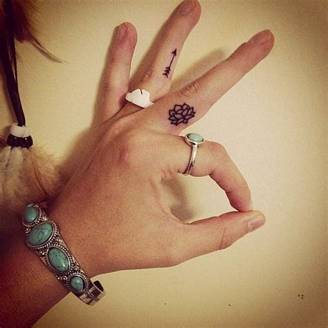 lotus flower finger tattoo 40 tiny ideas for inspirations
