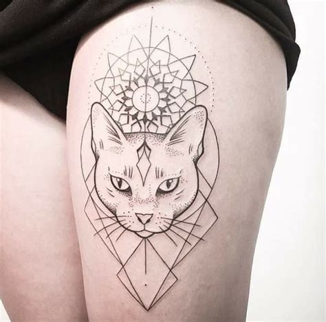 geometric cat tattoo 32 geometric cat designs amazing ideas