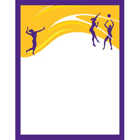volleyball player silhouette | sports program printing
