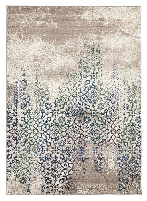 faded rug i absolutely the distressed look of this liwa faded ivory blue green floral motif rug and