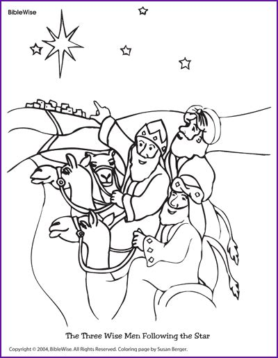 coloring the three wise men following the star kids