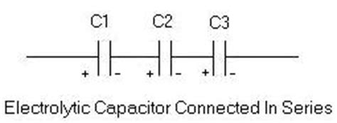 connecting electrolytic capacitor backwards series and parallel capacitor
