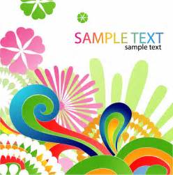 Colorful Designer by Colorful Floral Design Abstract Background Free Vector